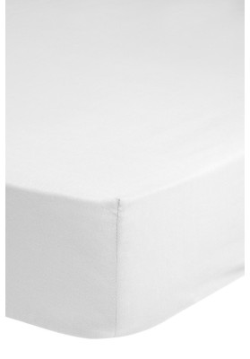 Cotton satin Fitted Sheet HIP White