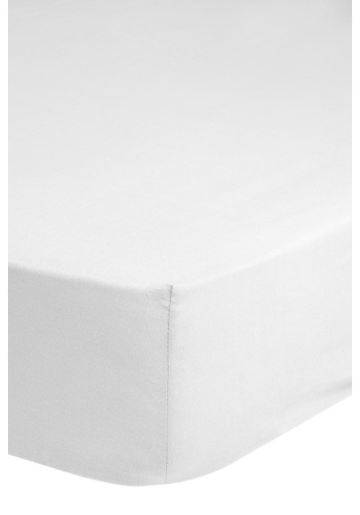 Jersey Fitted Sheet - White