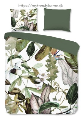 Flannel Bedlinen Leaves and Flowers