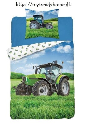 Glow-in-the-dark bedding Tractor Green