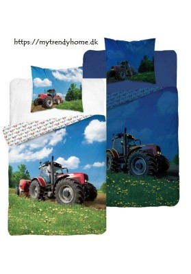 Glow-in-the-dark bedding Tractor Red
