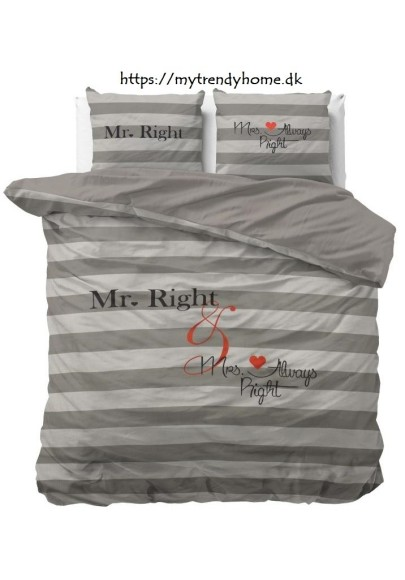 Mr and Mrs Always Right Grey