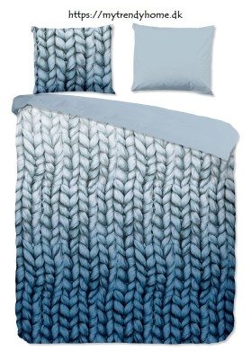 Flannel Bed Linen Knitted Blue