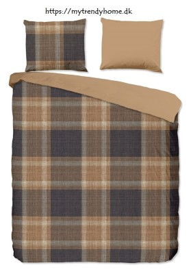 Flannel Bed Linen Check Mocca