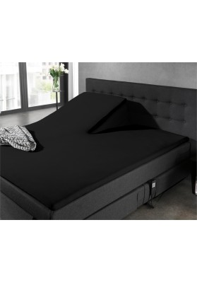 Fitted Sheet Splittopper Jersey Black