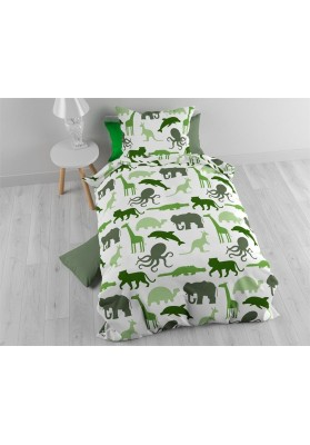 Flannel Small Zoo Green