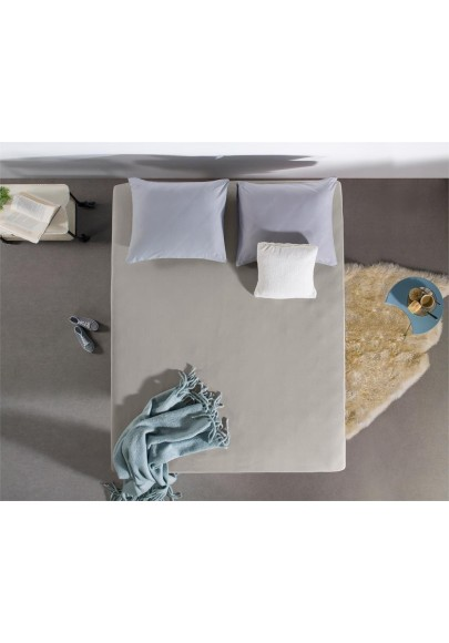 Flannel Fitted Sheet Soft Touch Grey