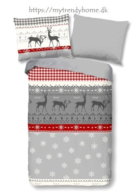 Flannel Bedlinen Winter Grå